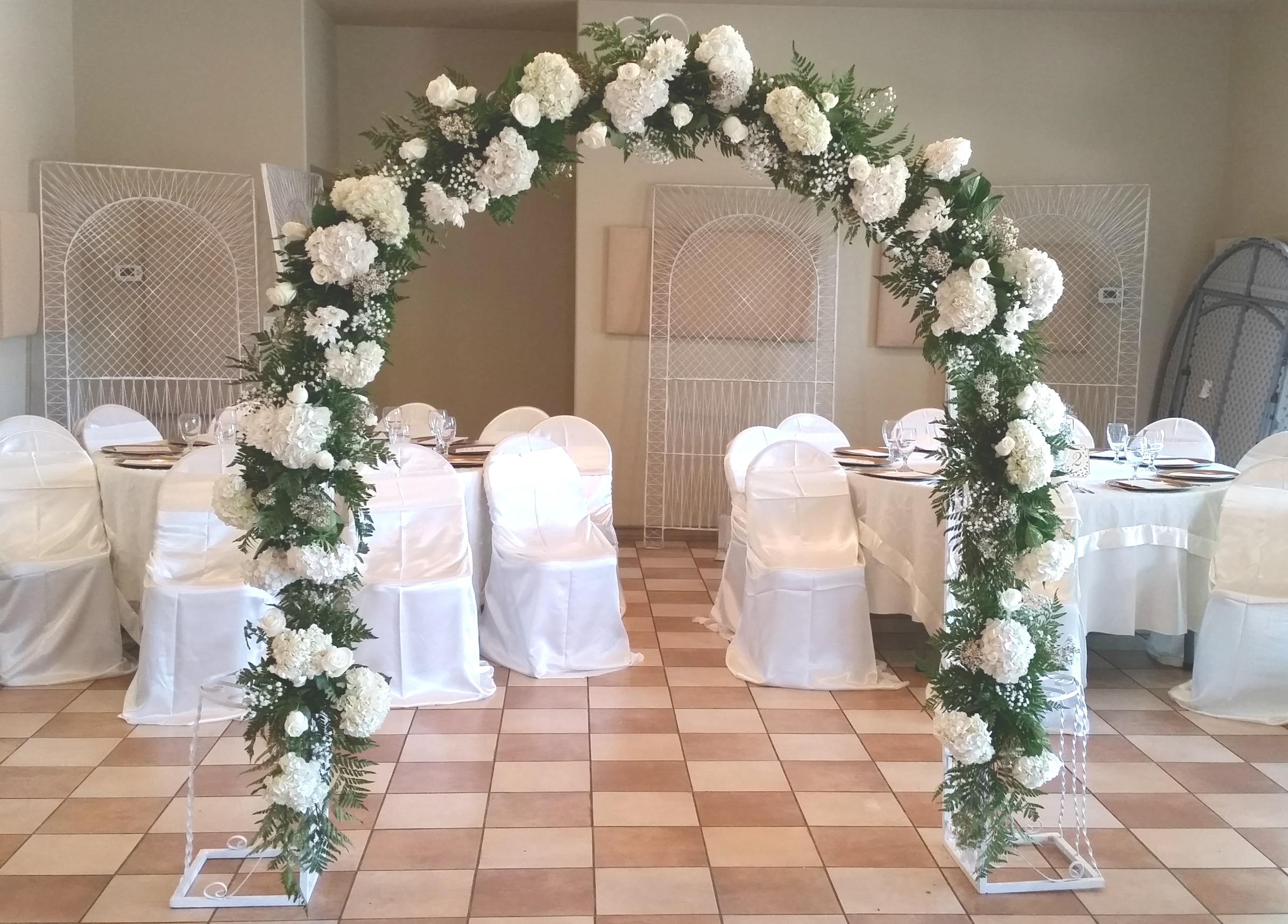 White And Cream Wedding Arch Wilsons Fl Design