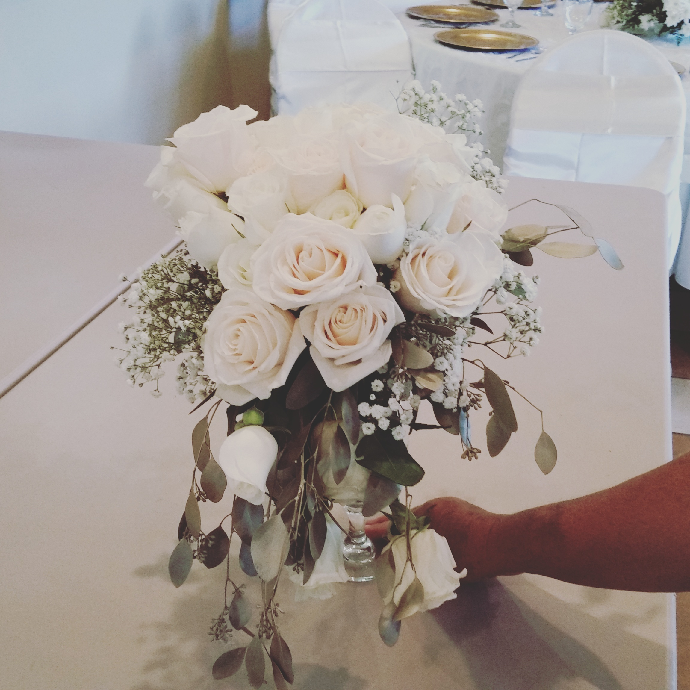 bridal bouquet blush cream white roses wilsons floral design helotes san antonio wedding